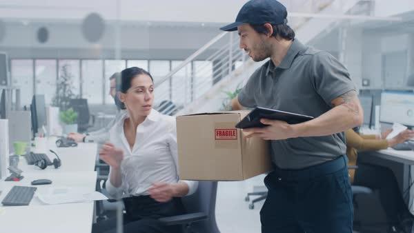 Доставить посылку на ваше рабочее место